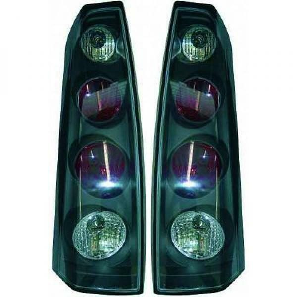 Back Rear Tail Lights Pair Set Clear Black For Vauxhall Meriva 03-06