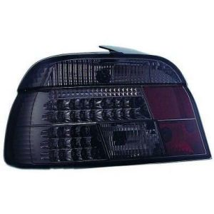 Back Rear Tail Lights Pair Set LED Clear Black For BMW 5 Series E39 95-00
