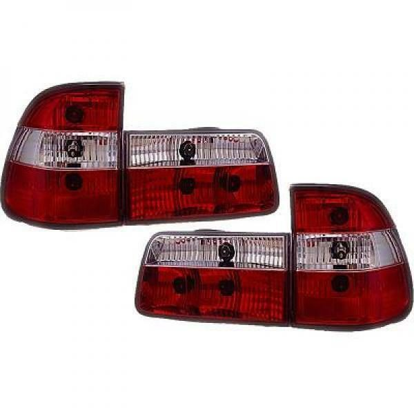 Back Rear Tail Lights Pair Set Clear Red White For BMW 5 Series E39 95-00