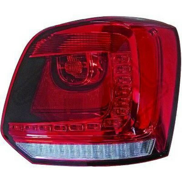 Back Rear Tail Lights Pair Set LED Red For VW Polo 3 5 Door 09-14