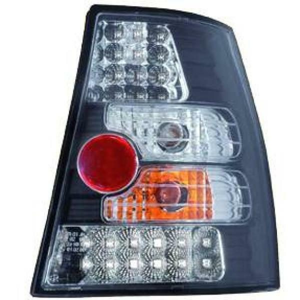 Back Rear Tail Lights Pair Set LED Clear Black For VW Golf IV 97-03 estate