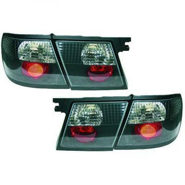 Back Rear Tail Lights Pair Set Clear Black For Nissan Primera P11 W11 96-99