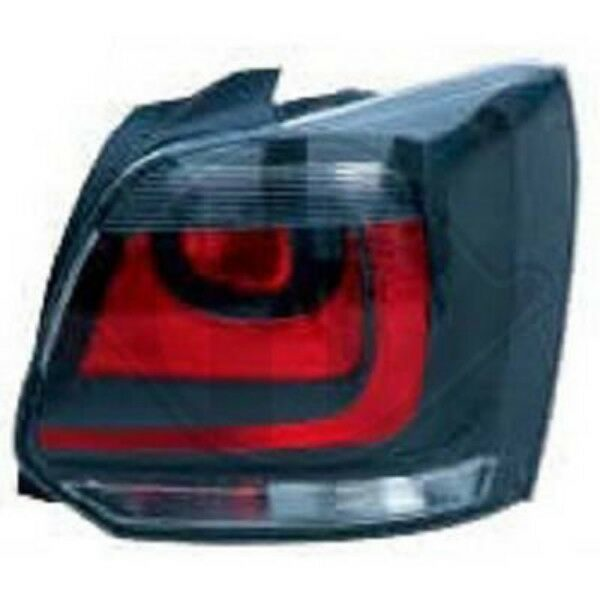 Back Rear Tail Lights Pair Set Red Black For VW Polo 3 5 Door 09-14