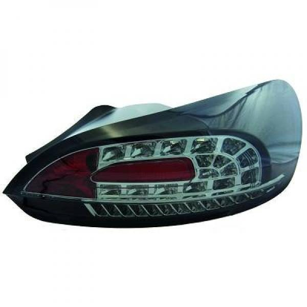 Back Rear Tail Lights Pair Set LED Clear Smoke Black For VW Scirocco 08-14