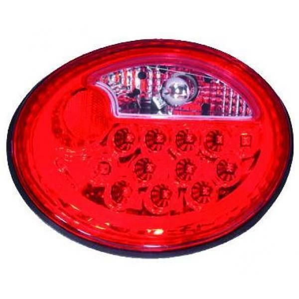 Back Rear Tail Lights Pair Set LED Clear Red For VW New Beetle 98-05