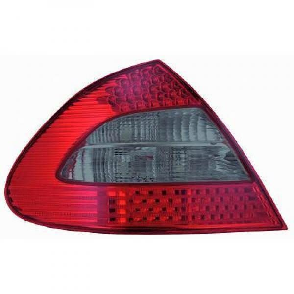 Back Rear Tail Lights Pair Set LED Clear Red Black For Mercedes W211 Saloon