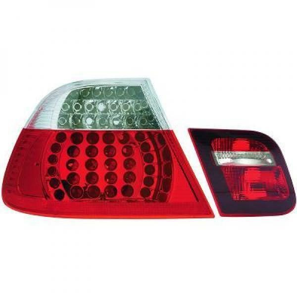 Back Rear Tail Lights Pair Set LED Clear For BMW 3 Series E46 Saloon 98-01