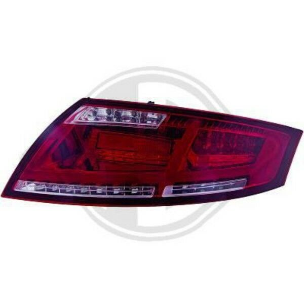 Back Rear Tail Lights Pair Set LED Smoked Red For Audi TT Coupe Cabrio 06-On
