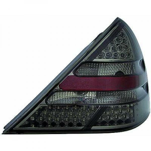 Back Rear Tail Lights Pair Set LED Clear Black For Mercedes SLK R170 96-04