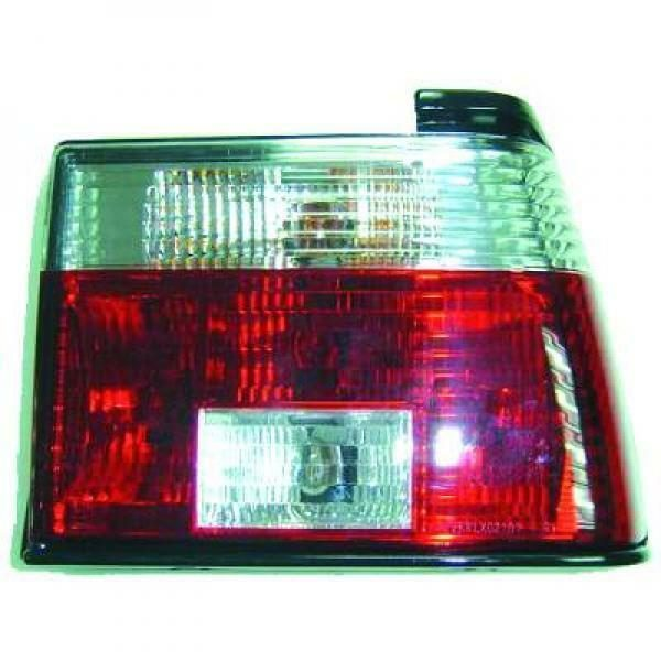 Back Rear Tail Lights Pair Set Clear Red White For VW Jetta Typ19 84-91