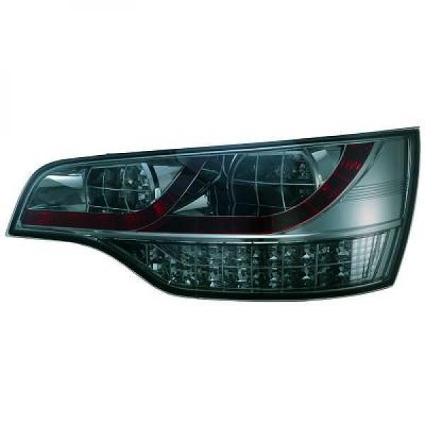 Back Rear Tail Lights Pair Set LED Clear Smoke For Audi Q7 05-09