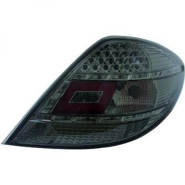 Back Rear Tail Lights Pair Set LED Clear Black For Mercedes R171 04-11