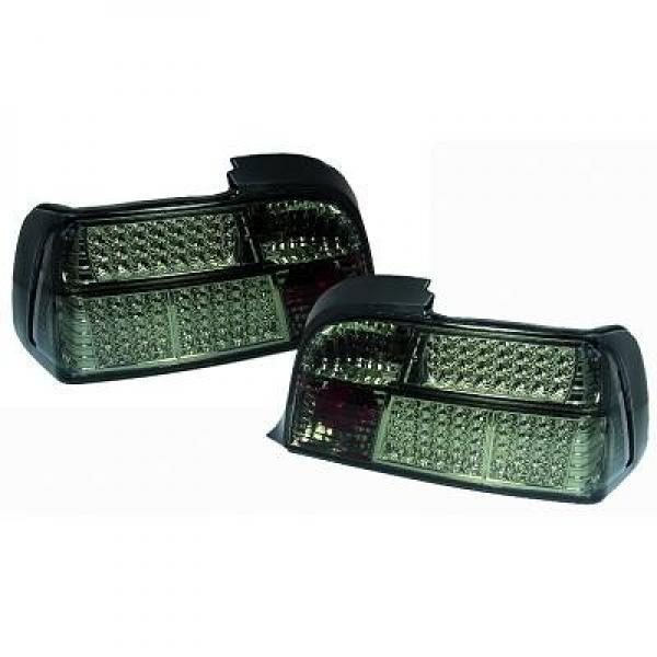 Back Rear Tail Lights Pair Set LED Clear Black For BMW E36 Coupe/Cabrio 90-99