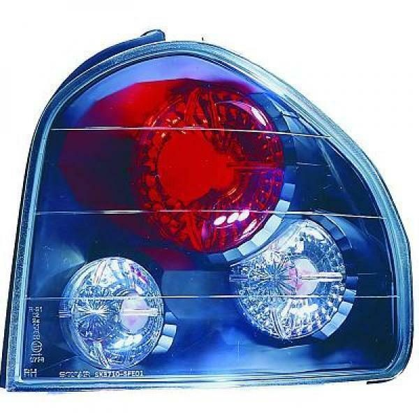 Back Rear Tail Lights Pair Set Clear Black For Hyundai Santa Fe 00-06