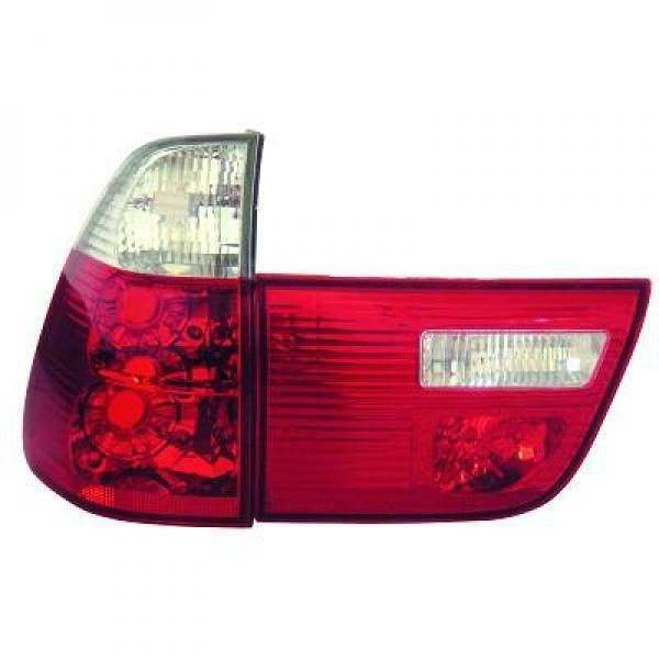 Back Rear Tail Lights Pair Set Clear Red White For BMW X5 E53 99-06