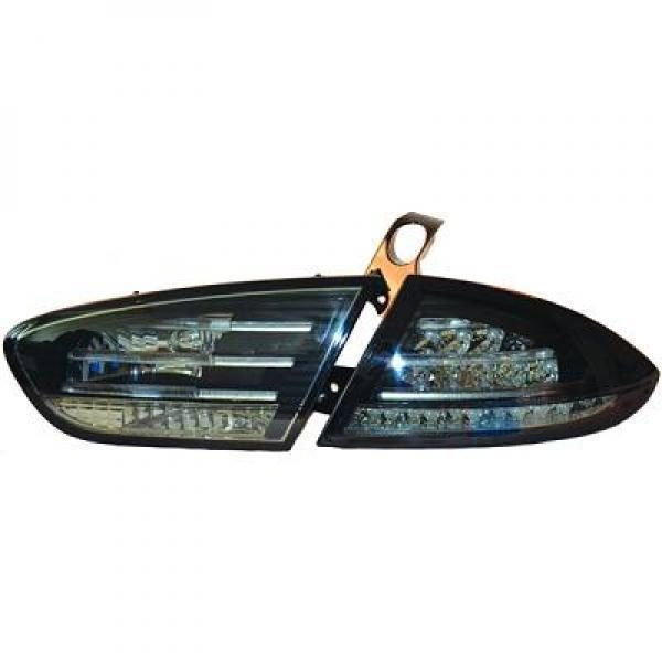Back Rear Tail Lights Pair Set LED Clear Smoke Black For Seat Toledo Altea 09-On