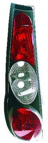 Back Rear Tail Lights Pair Set Clear Black For Fiat Punto 93-99