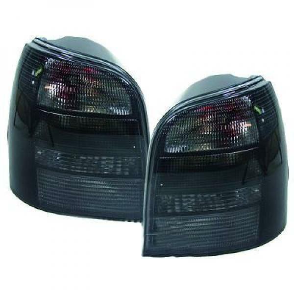Back Rear Tail Lights Pair Set Black For Audi A4 Saloon Avant 8D2 94-98