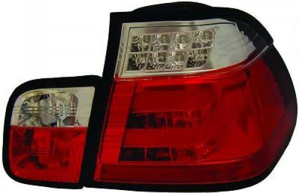 Back Rear Tail Lights Pair Set Clear Red White For BMW 3 Series E46 Saloon 01-05