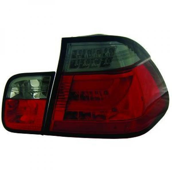 Back Rear Tail Lights Pair Set Clear Red Smoke For BMW 3 Series E46 Saloon 01-05