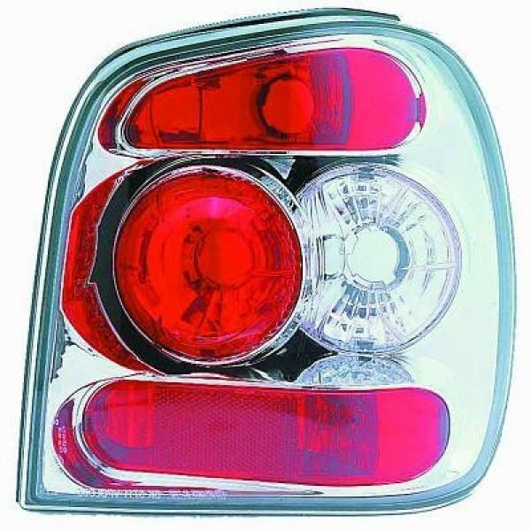 Back Rear Tail Lights Pair Set Clear Chrome For VW Polo 94-99