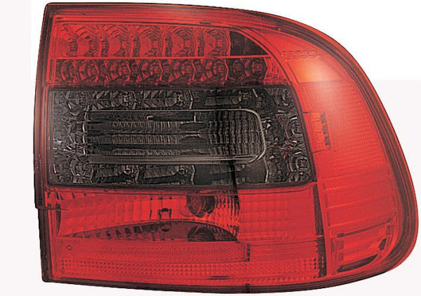 Back Rear Tail Lights Pair Set LED Clear Red Smoke For Porsche Cayenne 03-07