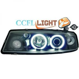 LHD Right Left CCFL Projector Headlights Pair Clear Black For Vauxhall Calibra