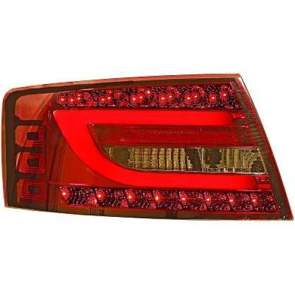 Back Rear Tail Lights Pair Set Clear Red Smoke For Audi A6 04-08