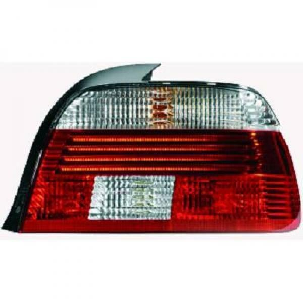 Back Rear Tail Lights Pair Set LED Red White For BMW 5 Series E39 95-00