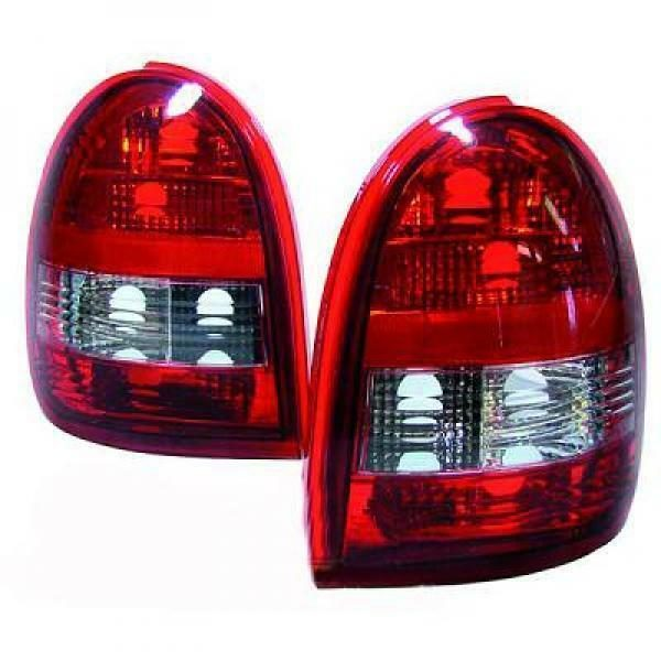 Back Rear Tail Lights Pair Set Clear Red White For Vauxhall Corsa B 93-00