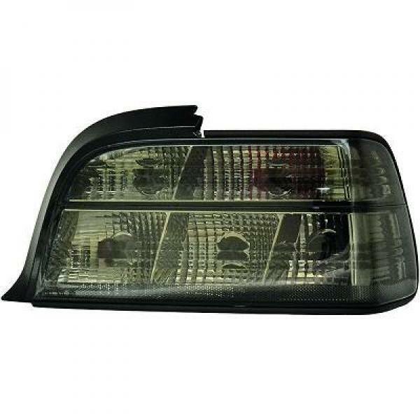 Back Rear Tail Lights Pair Set Crystal Black For BMW E36 2 Door 90-99