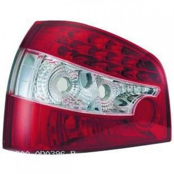 Back Rear Tail Lights Pair Set LED Clear Red White For Audi A3 96-03