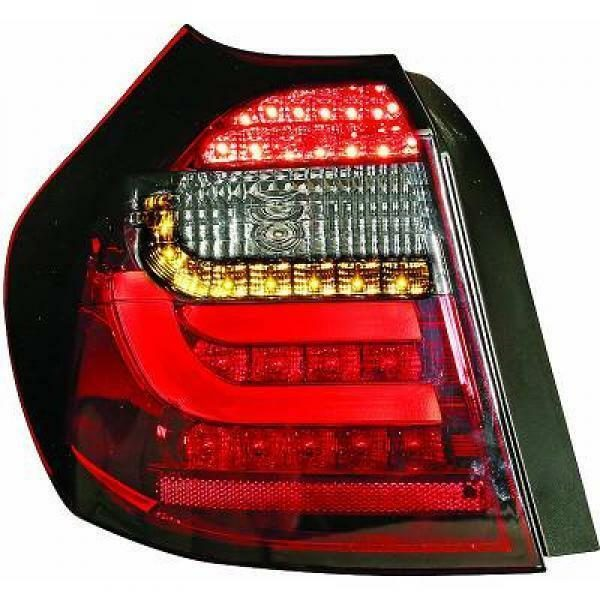 Back Rear Tail Lights Pair Set Clear Red Black For BMW E81 E87 LED 04-11