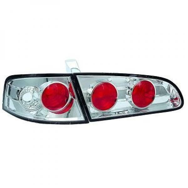 Back Rear Tail Lights Pair Set Clear Chrome For Seat Ibiza 02-08