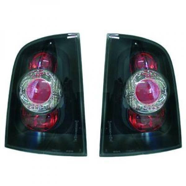 Back Rear Tail Lights Pair Set Clear Black For Skoda Octavia Estate 96-04