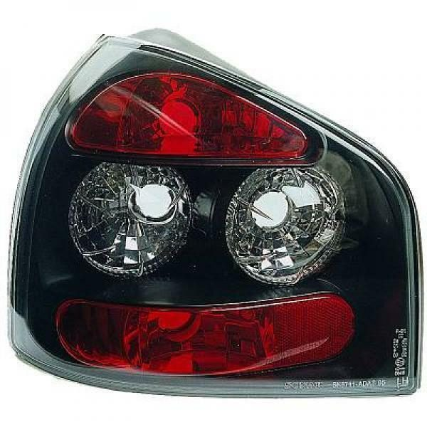 Back Rear Tail Lights Pair Set Clear Black For Audi A3 96-03