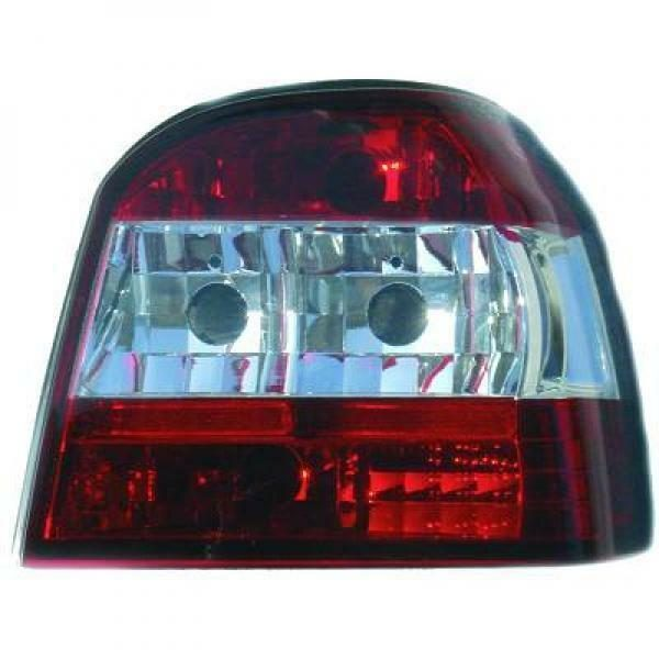 Back Rear Tail Lights Pair Set Clear Red White For VW Golf III 91-97
