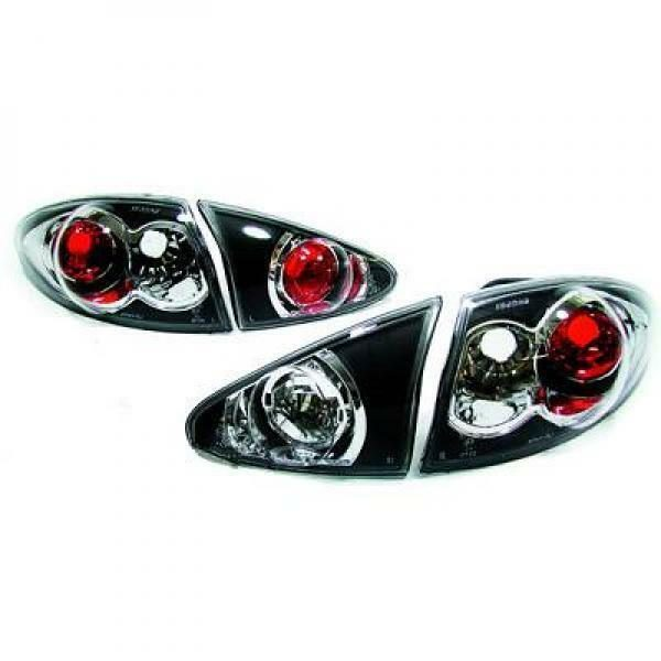 Back Rear Tail Lights Pair Set Clear Black For Alfa Romeo 147 Typ 190 01-04