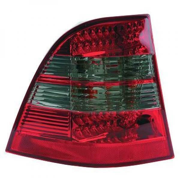 Back Rear Tail Lights Pair Set LED Clear Red Grey For Mercedes W163 98-05