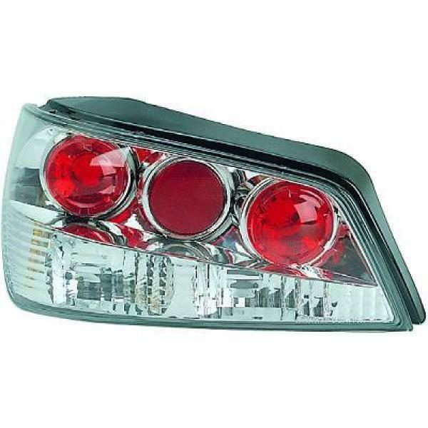 Back Rear Tail Lights Pair Set Clear Chrome For Peugeot 306 93-97
