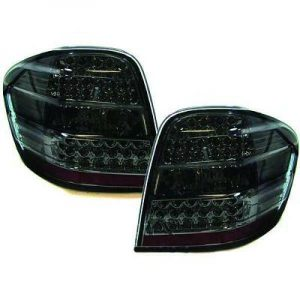 Back Rear Tail Lights Pair Set LED Clear Black For Mercedes-Benz W164 05-08