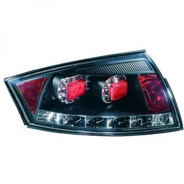 Back Rear Tail Lights Pair Set LED Clear Black Smoke For Audi TT Coupe 98-06