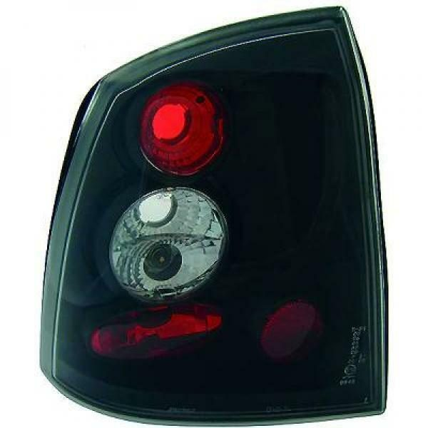 Back Rear Tail Lights Pair Set Clear Black For Vauxhall Astra G 2/4 Door 97-04