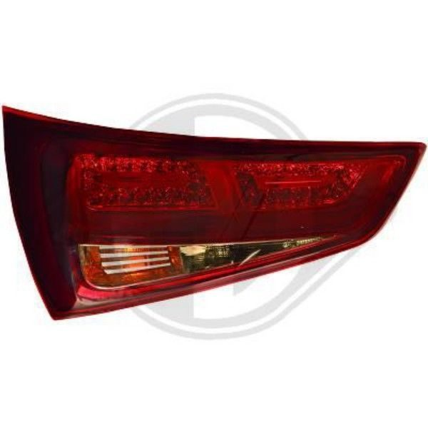 Back Rear Tail Lights Pair Set LED Smoke Red For Audi A1 10-14