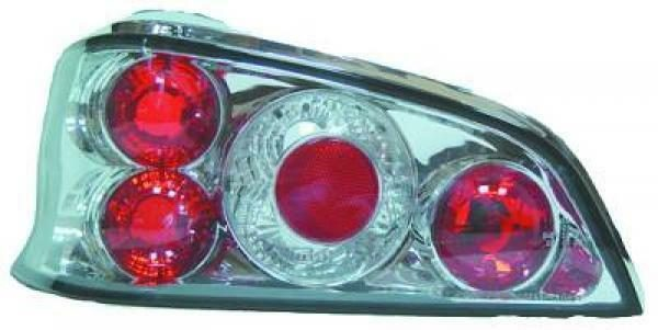 Back Rear Tail Lights Pair Set Clear Chrome For Peugeot 106 95-05