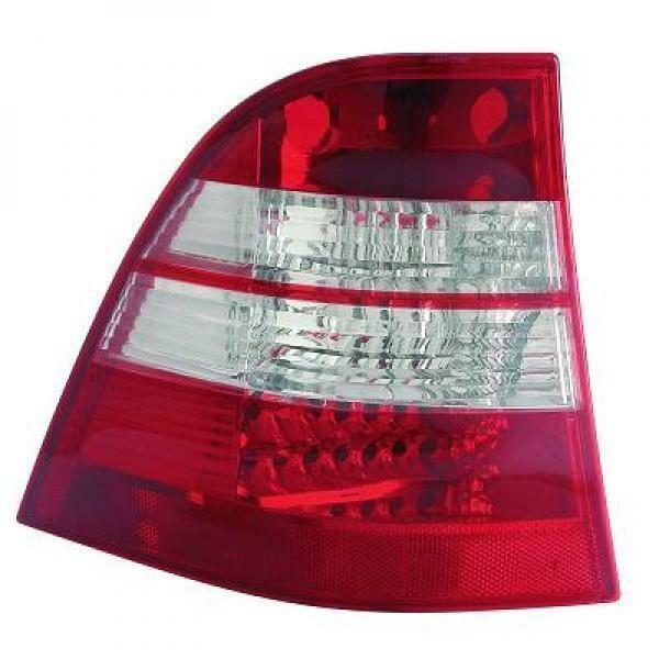 Back Rear Tail Lights Pair Set LED Clear Red White For Mercedes W163 98-05