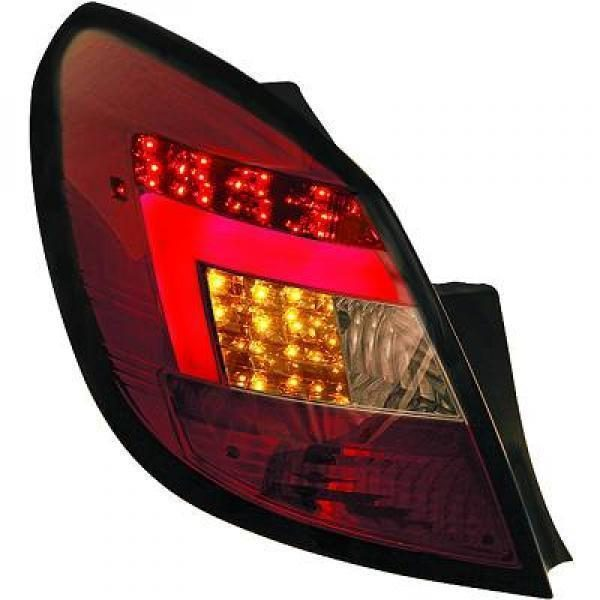 Back Rear Tail Lights Pair Set Clear Red Smoke For Vauxhall Corsa D 5 Door 06-14