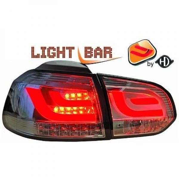 Back Rear Tail Lights Pair Set Clear Smoke For VW Golf VI Saloon 08-12