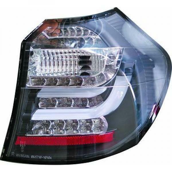 Back Rear Tail Lights Pair Set Clear Smoke Black For BMW E81 E87 LED 04-11