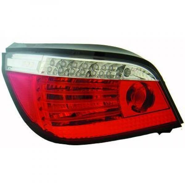 Back Rear Tail Lights Pair Set LED Clear Red White For BMW E60 61 03-07